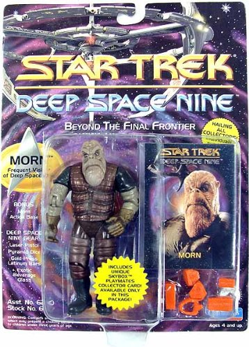 Morn , der schweigsame Gast bei Quark - Actionfigur - Star Trek Deep Space Nine von Playmates (Deep Space Nine Playmates)