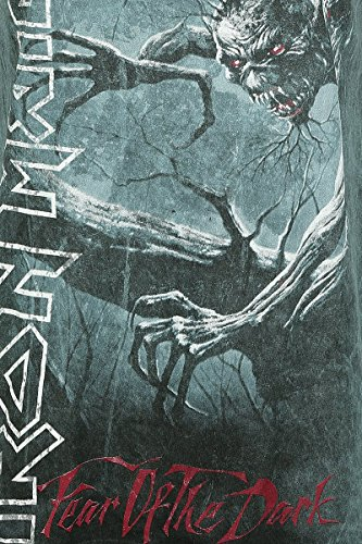 Unbekannt Iron Maiden Fear of The Dark Vintage Girl-Shirt Blaugrau Blaugrau
