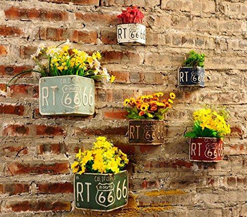 Marcus R Caveggf Retro Industriellen Stil Zement Topf Wand Kombination, Die Wand Kreative Dekorative Blumentopf Pflanze AnhäNger, Bar Cafe Innenwand Wand Dekorationen, Triangle six Combinations 2 (Baby Gear-marke)