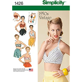 Simplicity 1426 Größe D5 Schnittmuster Vintage 1950er BH Tops ...