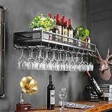 Casier à vin mural casier à vin suspendu fer rouge vin restaurant décoration mur casier à vin ( Couleur : B )
