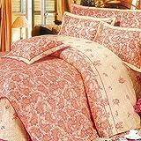Weimilon Baumwolle Bettbezug Vier Jahreszeiten,Blumen,Gestreift,Einzigen,Student,Individuell,Double F Casual Chic 150X215Cm(59X85Inch) (Color : F, Size : 220 * 240Cm)