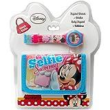 Kids Euroswan WD16888 Set Regalo con Reloj Digital y Billetera Modelo Minnie Mouse, Compuesto, Multicolor, 25x7x20 cm
