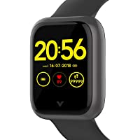 VAAN Veart One Touch Control Smart Watch, Heart Rate & Blood Pressure Tracker, Sleep Monitor, Water Resistant with 1.3…