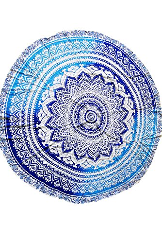 Price comparison product image Ocean Round Mandala Beach Blanket Boho Tapestry Wall Hanging
