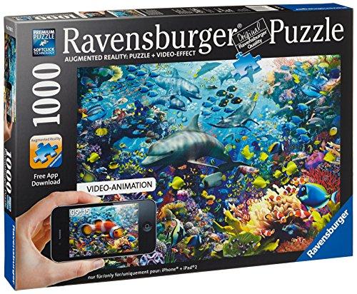 Preisvergleich Produktbild Ravensburger 19304 - Frabenfrohes Unterwasserreich - 1000 Teile Augmented Reality Puzzle