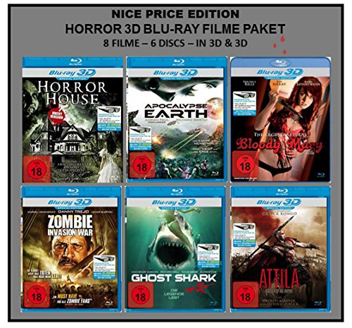 Nice Price Edition: Horror 3D Blu-ray Filme Paket (8 Filme in 2D + 3D)