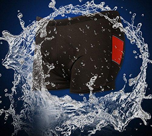 CHENGXIAOXUAN Professionelle Wasserdicht Schnell Trocknend Sport Männer Badehose Sexy Boxer Badehose Hohe Elastizität Männer Badebekleidung Fünf Loaded Red