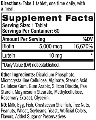 Natrol Biotin Plus Beauty, 5000mcg, 60 Tablets