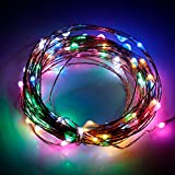 #10: 3M 30 LED Copper String LED Lights 3 AA Battery Powered Lights with Battery Box Christmas Fairy Decorative Lights
