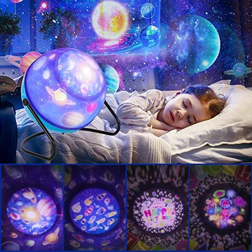 Proyector Estrellas Lámpara De Dormir,Luz de Nocturna Infantil estrella proyector 360° Rotación Luz y 6 Modos Regalo Cumpleaños para Niños y Bebés Navidad Niños Dormitorio Decoración Casa