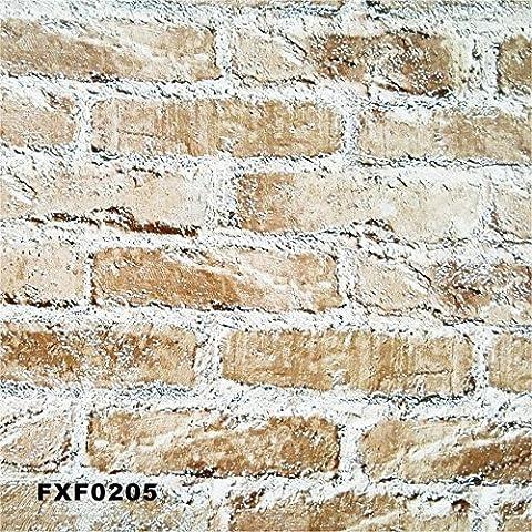 FUMIMID Studiare il salotto TV divano rosso e giallo mattone, pietra cultura moda 3D sfondo ambientale non-tessuto carta da parati , fxf1405