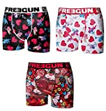 Freegun Pack X3, Boxer Homme Collection St.Valentin