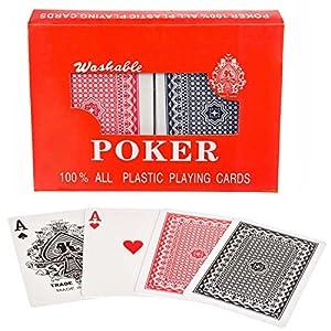 Royal 100% plastica Poker-Biglietti di plastica carte da gioco doppio deck set