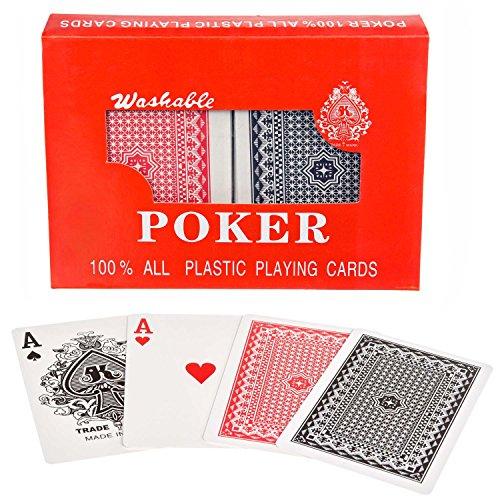 Royal 100% Plastik Poker-Karten Kunststoff-Karten Spielkarten Doppel-Deck Set (Mit Deck Einem Karte Spiele Karten Von)