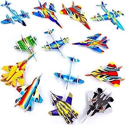 German Trendseller® - 12 x Styropor Flieger l Mitgebsel ? Kindergeburtstag ? Viele Modelle ? NEU ? 12 Stück