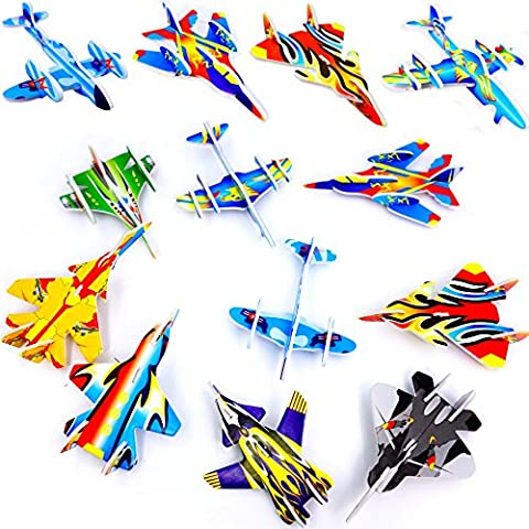 German Trendseller® - 24 x Styropor Flieger l Mitgebsel ┃ Kindergeburtstag ┃ Viele Modelle ┃ NEU ┃ 24 Stück