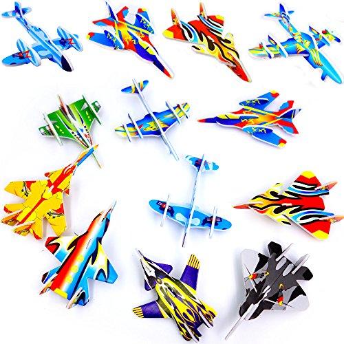 Preisvergleich Produktbild German Trendseller® - 12 x Styropor Flieger l Mitgebsel  Kindergeburtstag  Viele Modelle  NEU  12 Stück