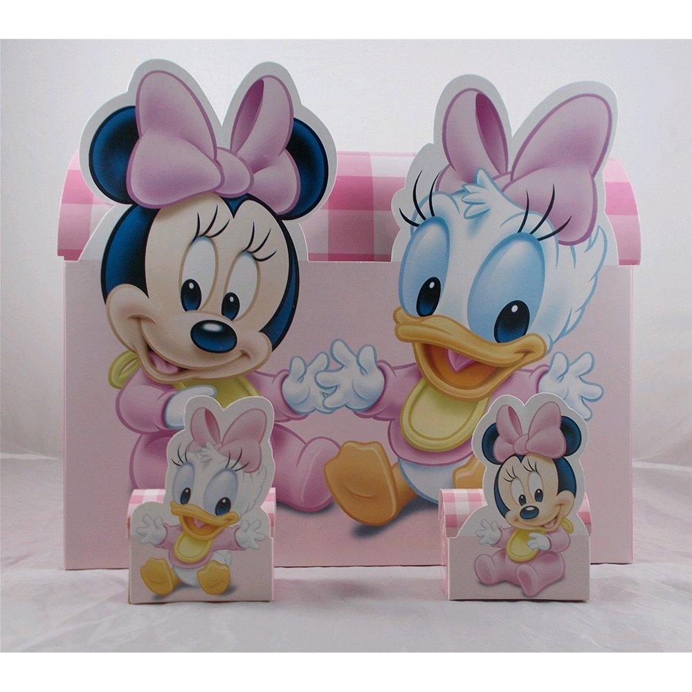 Bomboniere Disney astuccio scatoline portaconfetti Minnie e Paperina cm. 7x10x4