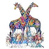 #6: DIY 5D Diamond Painting -BESTVECH Giraffe Cross Stitch Embroid Rhinestones Kits Home Wall Decor
