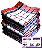#6: Space Fly Premium Quality, Highly Absorbent Big Size 20X20inch 100% Cotton Multipurpose Kitchen, Chapatis Napkin and cleaning, Cloth, Duster (10 pieces_Multi Color Striped)