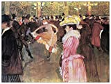 Artopweb EC40317 Panel Decorativo-Toulouse Lautrec Ball Im Moulin Rouge, Madera,, 80x1.8x60 cm