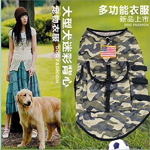 Hund zwei Beine Camouflage Weste Kleidung Teddy VIP-kleine und mittlere Hund Kleid Frühling und Herbst, die Britische Flagge, XL (Superman Dog Kostüm Große)
