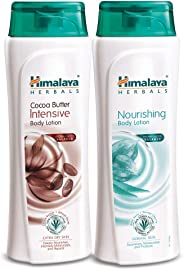 Himalaya Herbals Cocoa Butter Intensive Body Lotion and Nourishing Body Lotion (400 mL, Pack of 2)