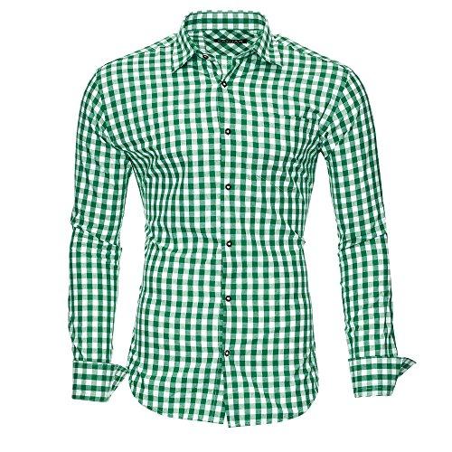 Kayhan Herren Hemd, Oktoberfest Grün L -