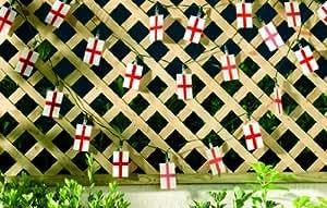 Smart Solar 3400WMM 20-LED England Flag Lights