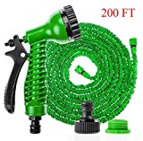 Hose Pipe Expandable 200FT with Spray Gun 7 Pattern Garden Watering Washing Magic