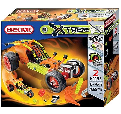 Erector Extreme Model Set Dragster 80 pieces