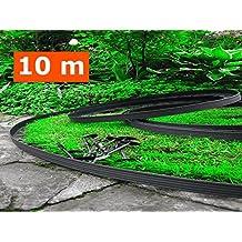 10 metros - Flexible Borde de jardín -. El 60 de anclaje incluido, flexible Césped Bordes, Borde de jardín de plástico, flexible jardín de césped, jardín Inspiración, Diseño de Jardines
