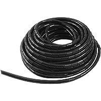 GTIWUNG Kabelschlauch Kabelspirale Spiralband Kabelschutz, Flexibler Spiralschlauch Kabelorganisation, Schwarz, 15m