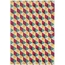 Alfombra salon sala de estar Carpet moderno Design COLORES TRIANGLE RUG 100% Heatset Polypropylen 200x300 cm Rectangular Mehrfarbig   Alfombras barata online comprar
