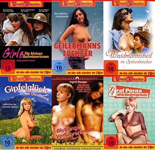 KULTFILME COLLECTION Girls - Die kleinen Aufreißerinnen * Geilermanns Töchter * Waidmannsheil im Spitzenhöschen * Gipfelglück im Dirndlrock * Blutjunge Verführerrinnen * Graf Porno 6 DVD Edition ()