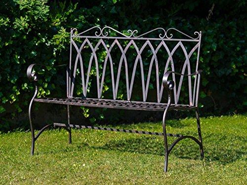 Nostalgische Gartenbank 116cm Eisen Bank Nostalgie Antik-Stil Garten - 2