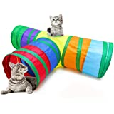 Qpets® Cat Toys 3 Way Cat Tunnel Pet Tube Collapsible Play Toy Indoor Outdoor Kitty Puppy Toys for Puzzle Exercising Hiding T