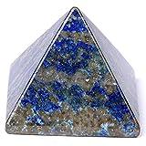"Pyramid-Finest Big Lazuli Lapis Gemstone 1.0"" Carved Pyramidal Crystal Healing Crafts HRT068"
