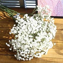 Jiangfu Ramo de flores de seda artificiales, para guirnaldas o decoración, Blanco