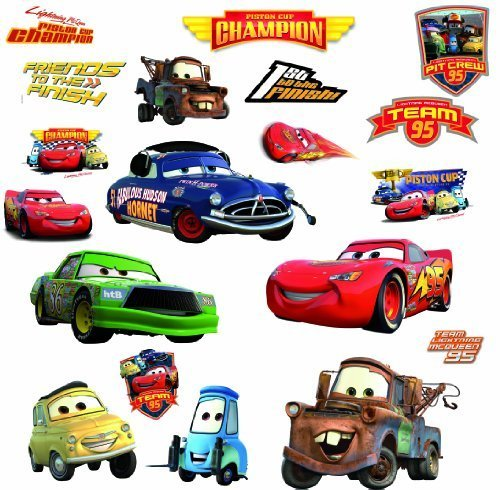 RoomMates RMK1520SCS RM - Disney Cars Piston Cup Champions Wandtattoo, PVC, Bunt, 29 x 13 x 2.5 cm Dinosaurier Spielzeug Greifen