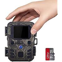 SUNTEKCAM Mini Caméra de Chasse 12MP 1080P Étanche IP65 avec 8Go Carte SD 850nm Vision Nocturne Caméra de Surveillance…
