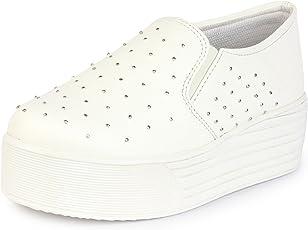 Do Bhai Vam-Stone Smart Casual Canvas Shoes for Women