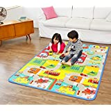 YOZO Double Side Water Proof Baby Mat Carpet Kids Infant Crawling Baby Gym Water Resistant Play & Crawl Mat(6.5 Feet X 6 Feet) (195 cm X 180 cm) Designs May Vary Extra Large Size
