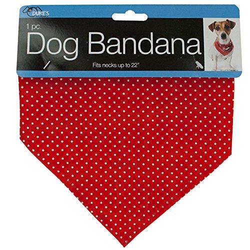 Der Duke 614436Großhandel von Polka Dot Hund Bandana mit Schnappverschluss X