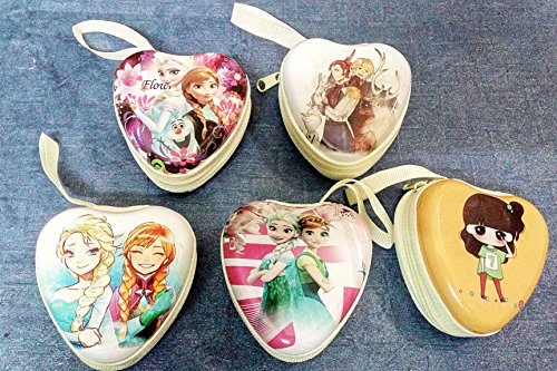 Art box Latest 5 Special characters,Metallic type material 5 small Zipper Heart shape Headphones / Coin Purse Wallet Pouch Bag...