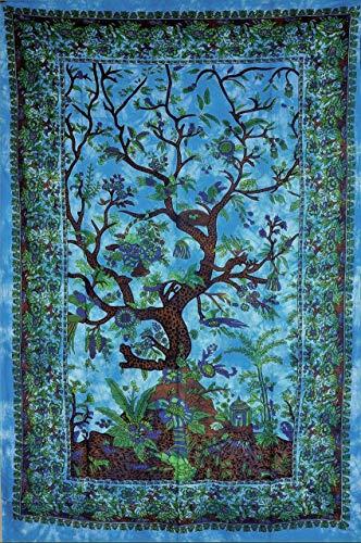 Tapisserie Tree of Life Tapisserie Tie and Dye Blue Dorm Tapisserie Hippie Gypsy Wand Hanging Dorm Poster Gobelin
