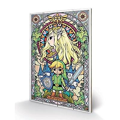 PYRAMID - Panneau en Bois Zelda Stained Glass (Vitrail)