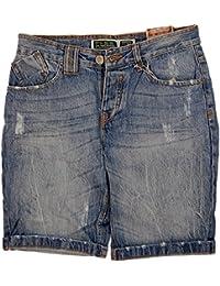 Original 98-86 Herren Bermuda Vintage Jeans 5 Pocket Short Destroyed Look