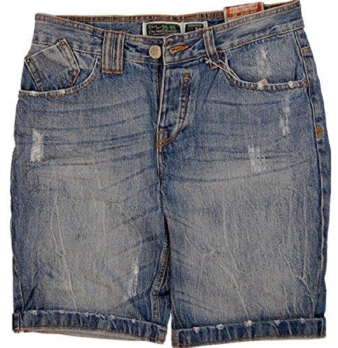 "Original 98–86 bermuda pour homme jeans vintage short 5 poches, look ""destroyed"" Bleu - Middle Blue"